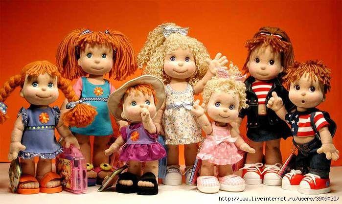 This textile dolls from Mel Birnkrant