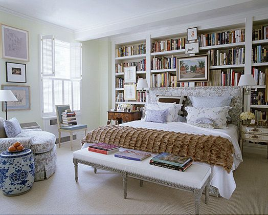 I want the bench and the bookshelves.