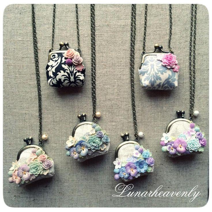 crochet purse necklace