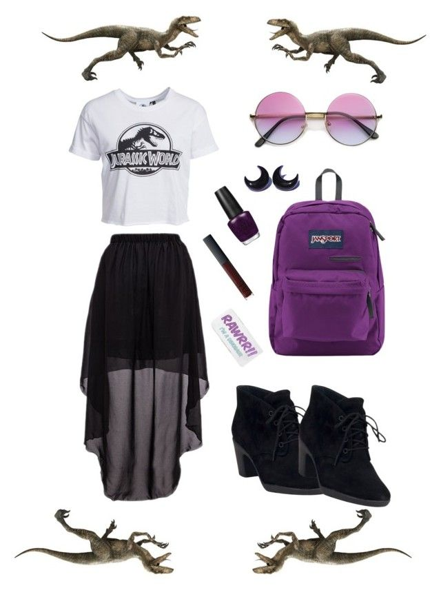 """""""Jurassic World"""" by rositacaramel on Polyvore featuring New Look, Clarks, Skinnydip, JanSport, OPI and NARS Cosmetics"""