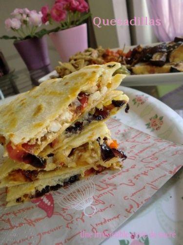 Quesadillas Avec Tortillas Fait Maison