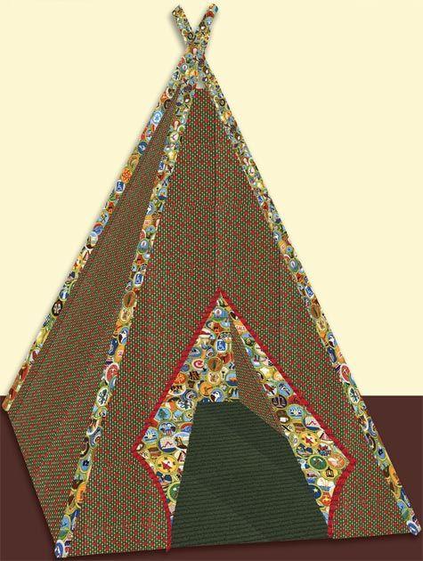 teepee, free pattern at robert kauffman.