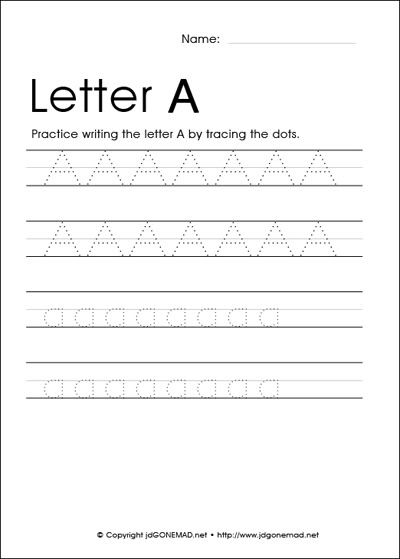 Traceable Letters for preschoolers to learn their letters!  Letters A - Z  Free printable worksheets!