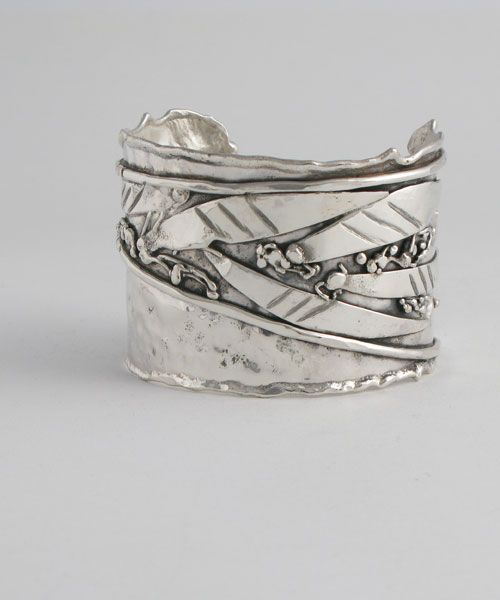 Sterling Silver Cuff Freehand design | Donald Marksz