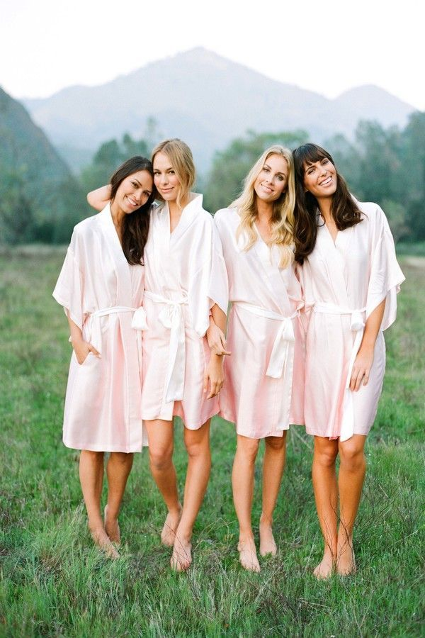 Beautiful girls in blush ombre What do