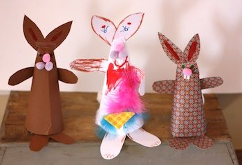 paper cone bunny rabbit paper craft