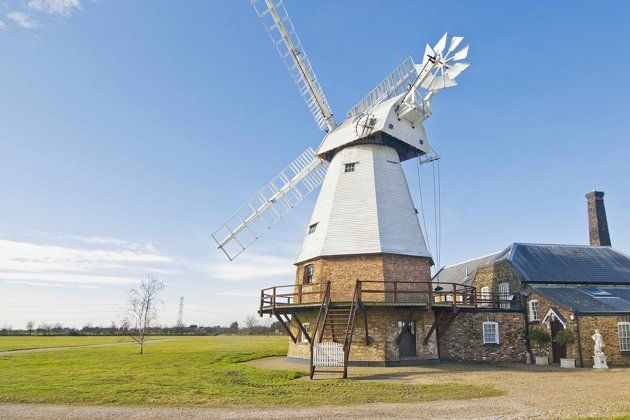 Amazing windmill homes for sale [The property was an operating windmill until 1912 (Strutt & Parker)]