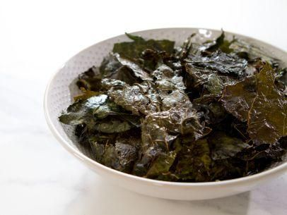 "Kale Chips (Trisha Goes to Boot Camp) - Trisha Yearwood, ""Trisha's Southern Kitchen"" on the Food Network."