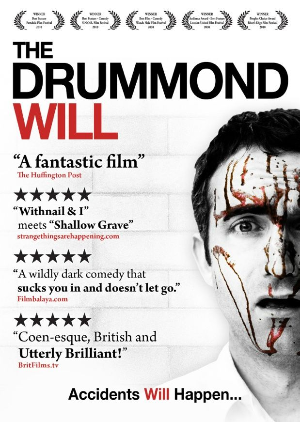 A deeply affectionate modern retelling of the classic comedies and murder mysteries from the Ealing era of British cinema, The Drummond Will imagines what it would be like to be stuck in a world where the strange rules of Ealing cinema apply. A world where life continues quite as normal in the face of escalating body counts, where sleepy English villages invariably harbor any number of dark secrets, and where you only really know who the murderer is when everybody else has been killed.