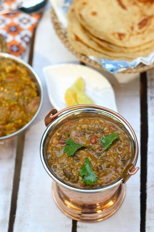 Dhabewali Dal - Punjabi style mixed lentils #saffrontrailrecipes