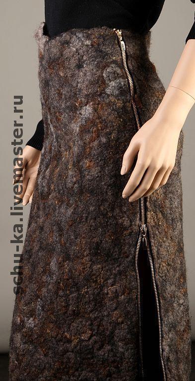 """Юбка - """"Офисная фурия"""" - юбка,Мокрое валяние,Авторский дизайн,стильная одежда"""