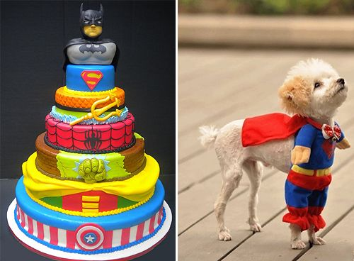 Superhero Wedding Cake Plus Super Dog