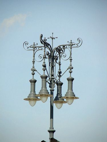 Budapest, Hungary - street light in Heroes' Square by Abby's mom, via Flickr