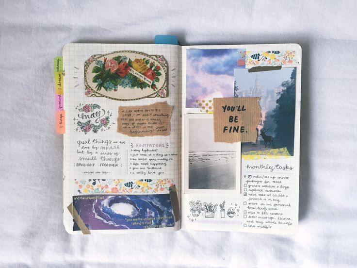 Simple art journal inspiration // creative works for teens and students. Pretty therapeutic #art #diy