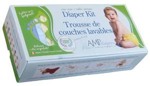 AMP One Size Bamboo Cloth Diaper Kit - Cloth Diapers Canada