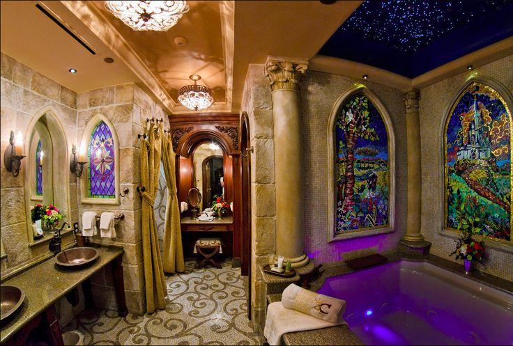 Cinderella's Castle bathroom in Disney World