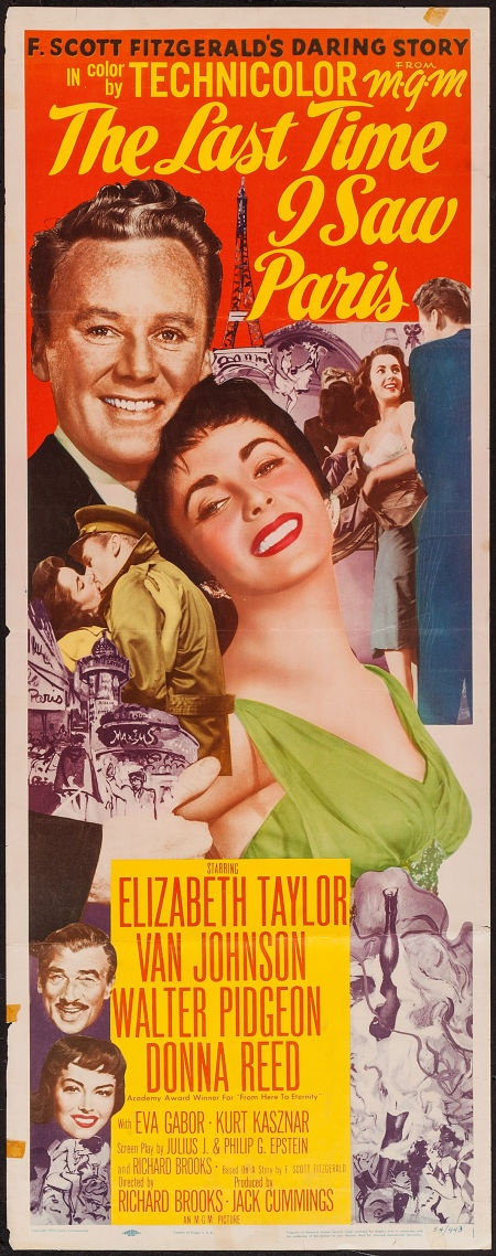 The Last Time I Saw Paris (1954) starring Elizabeth Taylor, Van Johnson. Watched March  2015, TCM.