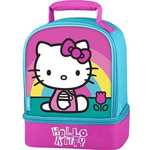 Hello Kitty Lunch Bag Kids School Girls Kit Dual Compartment Meal Gift Best NEW  #LunchBagKidsSchool #LunchBag