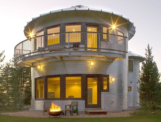 Silo. Home. Would be Perfect with a Heat Source in Middle.