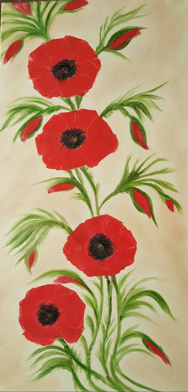 """""""Poppies"""" SOLD"""