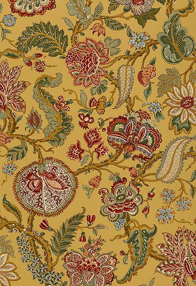 Lynn Chalk - Schumacher Chalfont Sunflower Wallpaper, $332.06 (http://store.lynnchalk.com/schumacher-chalfont-sunflower-wallpaper/)
