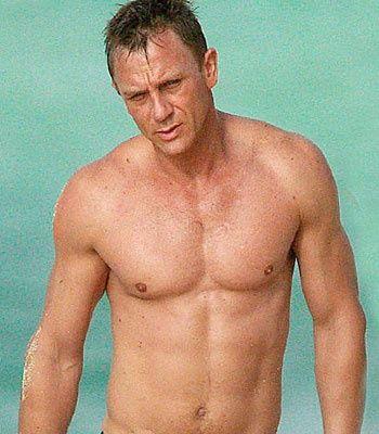Daniel Craig! I like big pecs and I cannot lie!