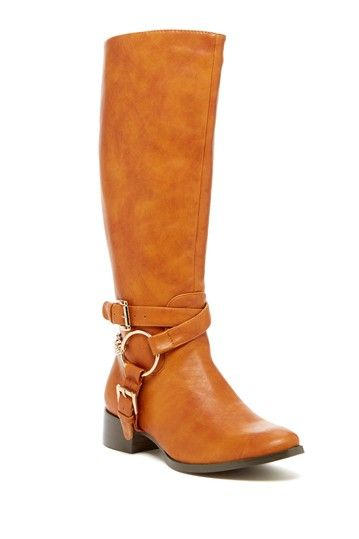 Elegant Footwear Cilenia Buckle Strap Tall Boot on HauteLook