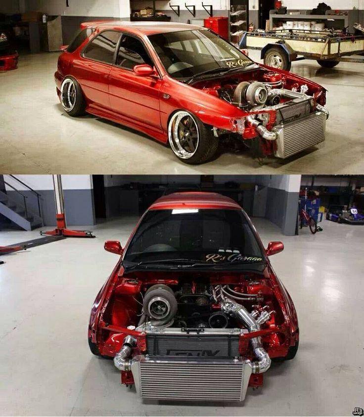Wow. Huge turbo on this 2JZ swapped Subaru WRX wagon! | My ...