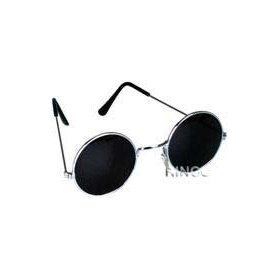 I look so good in round shades! John Black 60`S Hippie Sunglasses Smoke Hippy Glasses $0.90