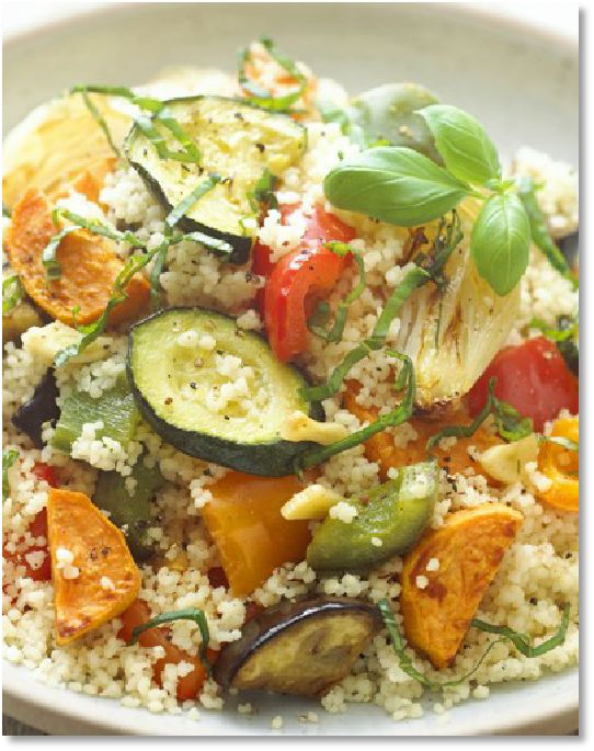 Low FODMAP Recipes - Roasted Vegetable Quinoa - gluten free http://www.ibssano.com/low_fodmap_recipe_roasted_vegetable_quinoa.html