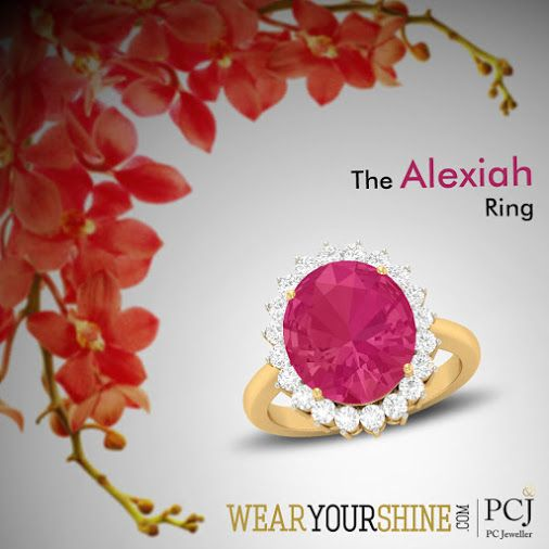 """""""Be the show-stopper with """"""""The #Alexiah #Ring"""""""" from #WearYourShine. Shop now : http://goo.gl/TpXwNC #WearYourShine #Love #PCJeweller #Hearts #Gemstones #Like #Diamonds #Rings #Jewellery #India #IndianJewelry #Happiness #Follow #Jewels #Cute #Fashion #Trends #Women"""""""