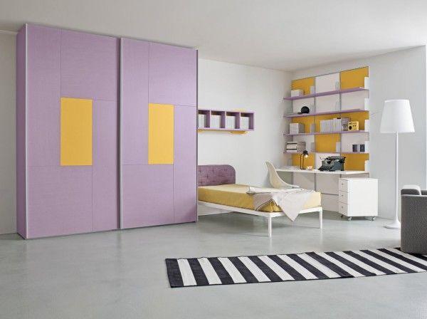 R2 loves Summer! Cameretta lilla by Clever. http://www.clever.it/it/camerette-per-bambini-e-ragazzi/cameretta-colorata-completa-start-046.html