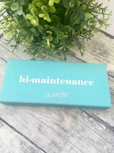 Melanie's Nook: Review : Colourpop Hi-Maintenance Palette