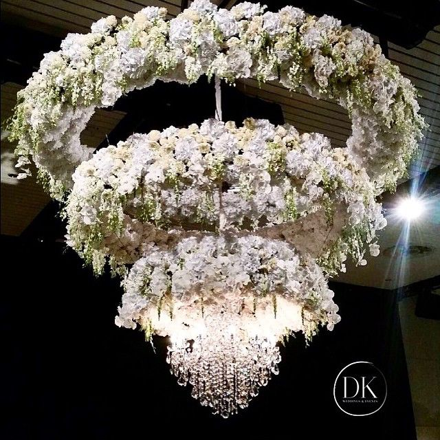 Spectacular floral chandelier | Diane Khoury Weddings and Events - Sydney, NSW…