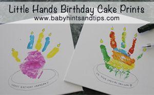 Craft-Hand print birthday cards