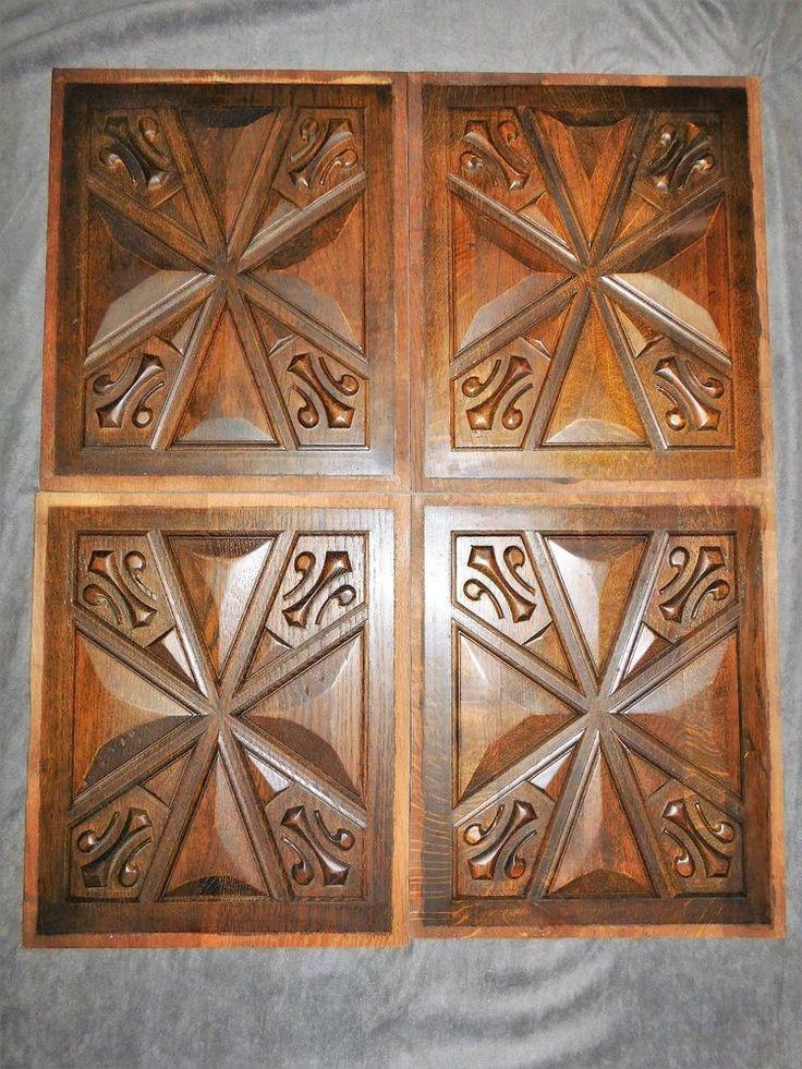 4 plaques facades bois massif sculpte forme etoilee 33cmx40cm f480 renovation ornements. Black Bedroom Furniture Sets. Home Design Ideas