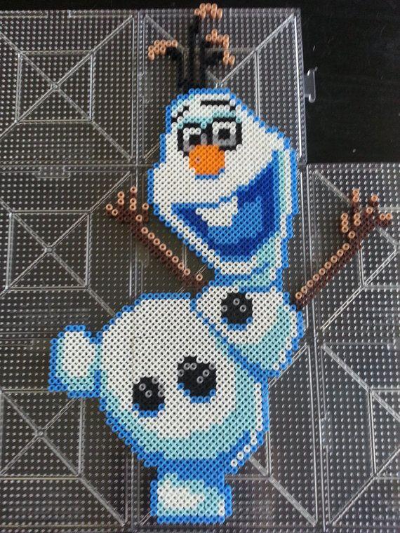 Items Similar To Disney U0026 39 S Frozen Olaf Perler Bead Sprite