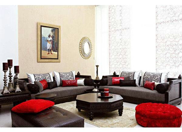 Red, Black And White Moroccan Salon!