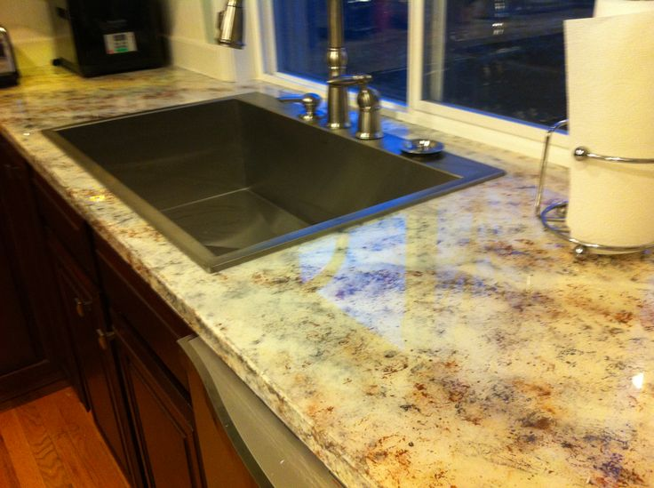 DIY Faux Granite Epoxy Resin Countertop