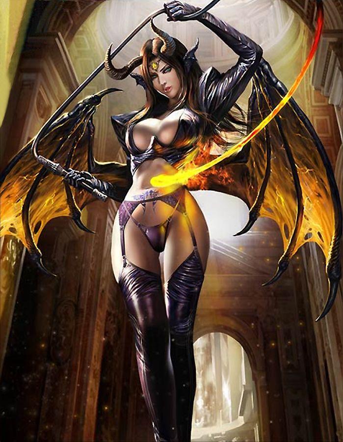 Demon girl art