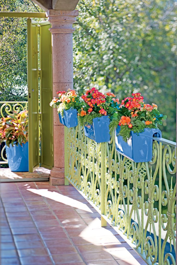 Best 25 balcony railing planters ideas on pinterest railing viva self watering balcony railing planters offer easy care and bold colors they baanklon Image collections
