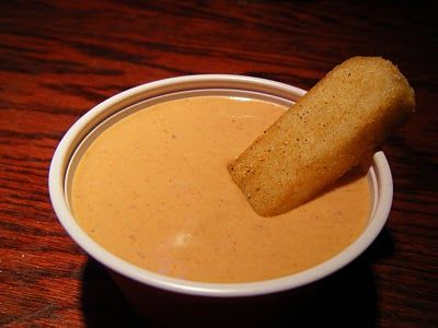 Red Robin's Campfire Sauce (Fry Sauce for those in Utah) absolutely delicious!!!! You would only know if you lived in Utah:)