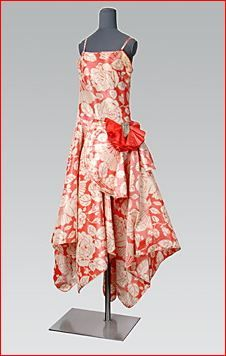 Jeanne Lanvin, Rose-Printed Silk Evening Dress. French, 1920s.