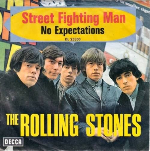 31st Aug 1968, Decca Records released what has been called The Rolling Stones most political song, 'Street Fighting Man', written after Mick Jagger attended a March 1968 anti-war rally at London's US embassy, during which mounted police attempted to control a crowd of 25,000. The single was kept out of the US Top 40 (reaching No.48) because many radio stations refused to play it based on what were perceived as subversive lyrics. More on The Stones here…