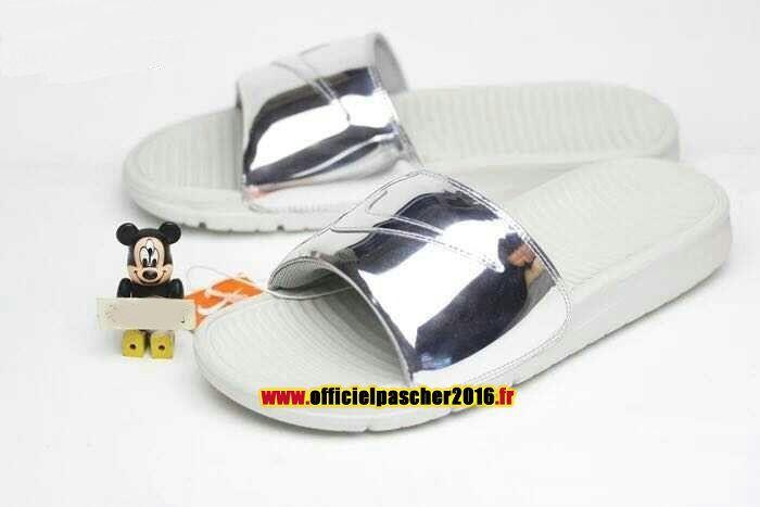 Officiel Nike Benassi JDI QS Nike sandales Pas Cher Pour Homme argent