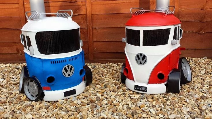 Colorful wood burner stoves take shape of classic Volkswagen rides