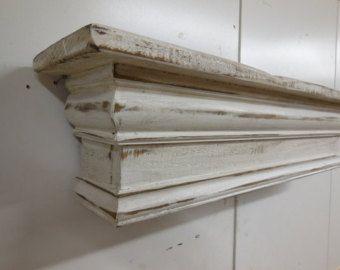 Fireplace Mantle Floating Shelf Wall Shelf by LynxCreekDesigns