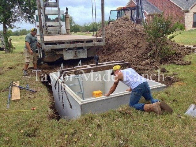 how to build a tornado shelter underground
