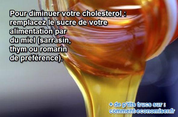 Le miel à la place du sucre diminue le cholestérol