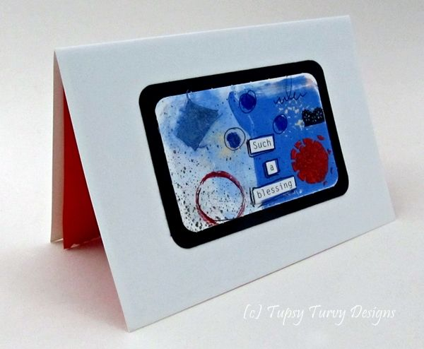 Using blue and red